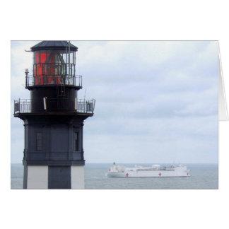 Faro de Henry del cabo con una nave Tarjeta De Felicitación