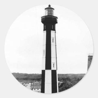 Faro de Henry del cabo Pegatina Redonda