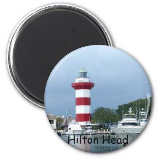 Faro de Hilton Head Imán Redondo 5 Cm