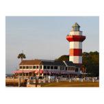 Faro de Hilton Head Island Tarjeta Postal