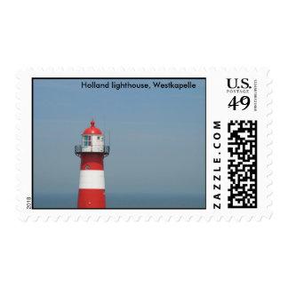 Faro de Holanda, Westkapelle, los Países Bajos Timbres Postales