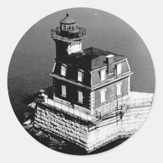 Faro de Hudson-Atenas Etiqueta Redonda