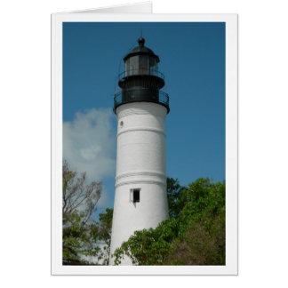 Faro de Key West (espacio en blanco) Felicitaciones
