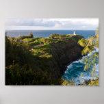 Faro de Kilauea, impresión del poster de Kauai, Ha