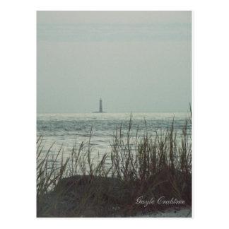 Faro de la arena, Costa del Golfo, postal de Alaba