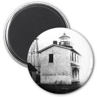 Faro de la batería de la pesca imán redondo 5 cm