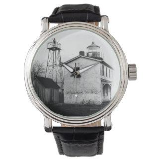Faro de la batería de la pesca relojes de pulsera
