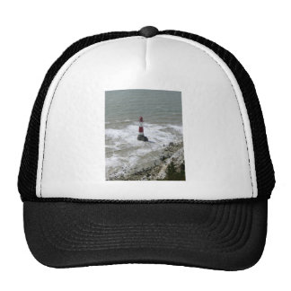 Faro de la cabeza con playas Sussex del este Gorras De Camionero
