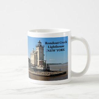 Faro de la cala de Rondout taza de Nueva York