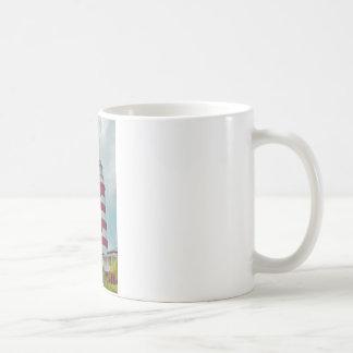 Faro de la ciudad de la esperanza tazas de café