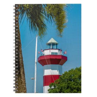 faro de la ciudad del puerto de Hilton Head Libreta