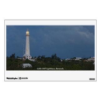 Faro de la colina de Gibbs en la etiqueta de la pa Vinilo Adhesivo