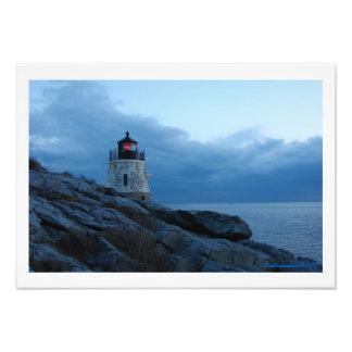 Faro de la colina del castillo, Newport, Rhode Isl Fotografías
