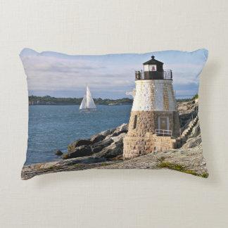 Faro de la colina del castillo, Rhode Island Cojín