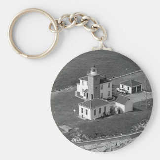 Faro de la colina del reloj llaveros