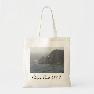 Faro de la costa de Oregon Bolsa Tela Barata