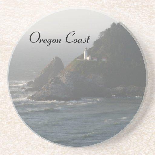 Faro de la costa de Oregon Posavasos Diseño