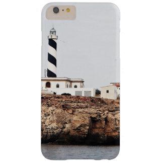 faro de la descripción en el mar del acantilado funda para iPhone 6 plus barely there