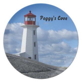 Faro de la ensenada de Peggy Plato De Comida