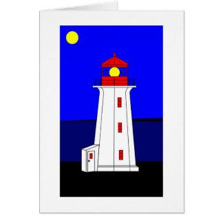 Faro de la ensenada de Peggys, bahía del St. Marga Tarjeta De Felicitación