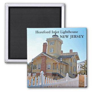 Faro de la entrada de Hereford, imán de New Jersey