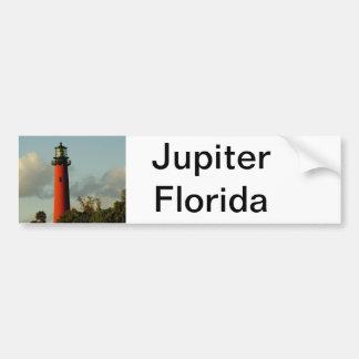 Faro de la entrada de Júpiter Etiqueta De Parachoque