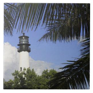 Faro de la Florida del cabo de Bill Baggs, Bill Ba Azulejo Cuadrado Grande