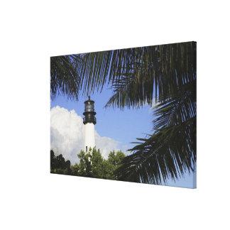 Faro de la Florida del cabo de Bill Baggs, Bill Ba Impresión En Tela