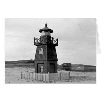 Faro de la gama de la isla de Sullivan Tarjeta De Felicitación