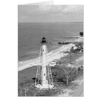 Faro de la gama de la parte posterior de la isla d tarjeta de felicitación
