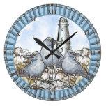 Faro de la guía de las gaviotas reloj