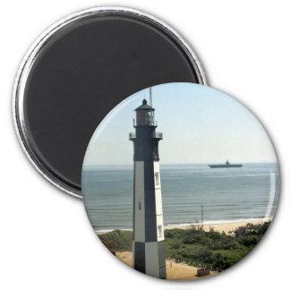 Faro de la historia del fuerte imán redondo 5 cm