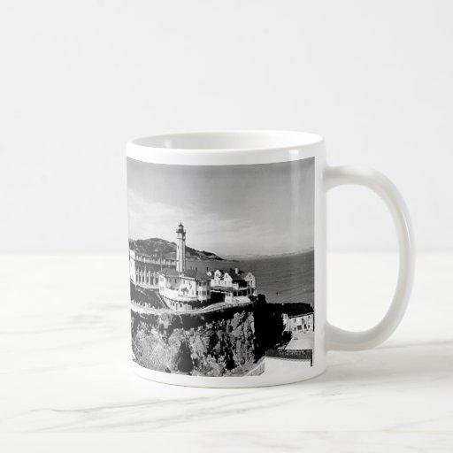 Faro de la isla de Alcatraz Taza De Café