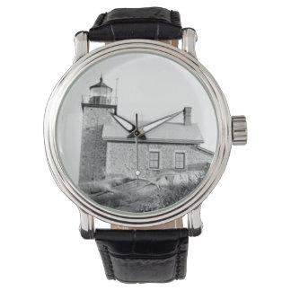 Faro de la isla de Huron Reloj
