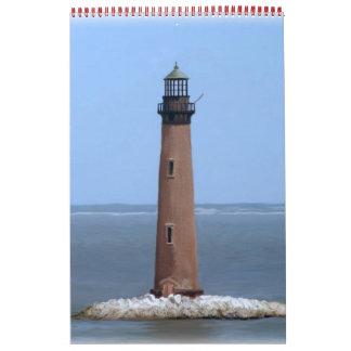 Faro de la isla de la arena calendario