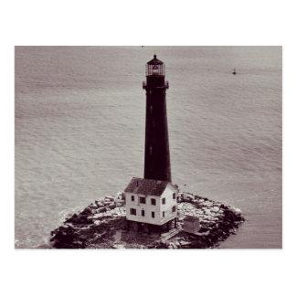 Faro de la isla de la arena postal