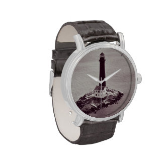 Faro de la isla de la arena reloj de mano
