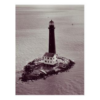 Faro de la isla de la arena tarjetas postales