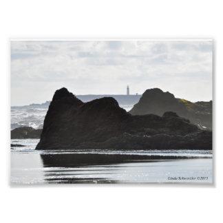 Faro de la isla de la destrucción fotografías