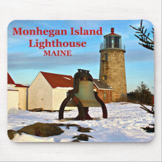 Faro de la isla de Monhegan, Maine Mousepad Alfombrillas De Ratones