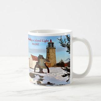 Faro de la isla de Monhegan, taza de Maine