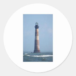Faro de la isla de Morris Etiqueta Redonda