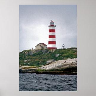 Faro de la isla de Sambro Posters