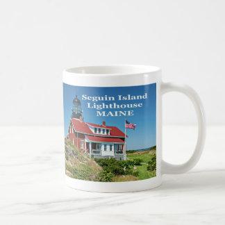 Faro de la isla de Seguin, taza de Maine