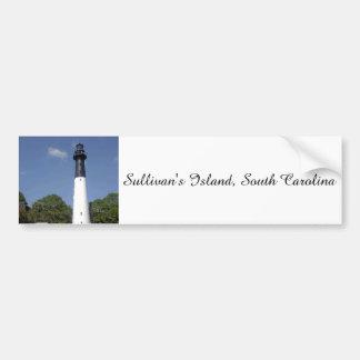 Faro de la isla de Sullivan Etiqueta De Parachoque