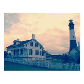 Faro de la isla de Tybee Tarjetas Postales