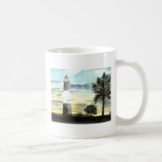 Faro de la isla de Tybee Tazas De Café