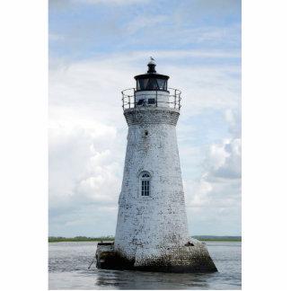 Faro de la isla del espolón de gallo fotoescultura vertical