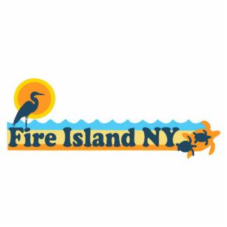 Faro de la isla del fuego escultura fotográfica
