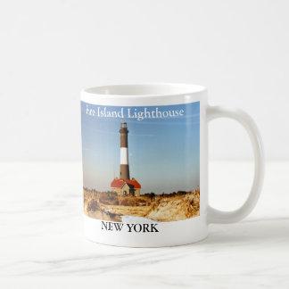 Faro de la isla del fuego, taza de Nueva York